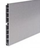 Soklový profil 100mm broušený hliník 4m