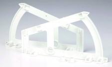Botníkový výklop 1-řadý bílý plast