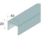 Vodící lišta SPS stříbrný elox