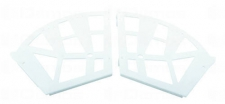 Botníkový výklop 3-řadý, bílý plast