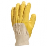 Rukavice Twite bavlna-žlutá latex
