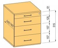 Kontejner komplet K-BBP 540m typ 2/ ver.5