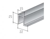 Horní profil S25 stříbrný elox