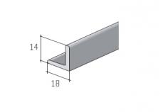 Dolní profil S25 stříbrný elox