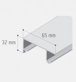 Profil S20/30 dvojitý stříbrný elox