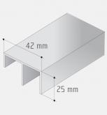 Spodní profil S30/45 stříbrný elox