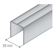 Horní profil S05-1 stříbrný elox