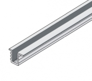 Profil S03 stříbrný elox