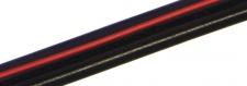 Kabel 2x0,25mm černý s červenou linkou, metráž max. 4A