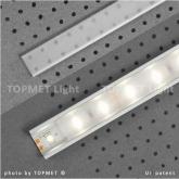 Krycí lišta pro LED Wireli 11,12,60,45 2m Klip