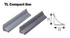 Těsnící lišta Compact Line hliník hladký 3 m