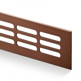 Větrací mřížka šířka 60 mm bronz elox