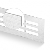 Větrací mřížka šířka 80 mm kartáčovaný elox