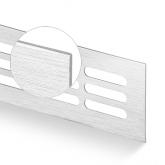 Větrací mřížka šířka 60 mm kartáčovaný elox