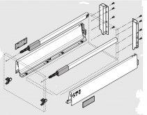 Sada Tandembox Antaro C+reling délka 450mm, 30 kg bílá