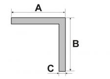 Rohový profil rovnoramenný, délka 2000 mm, stříbrný elox hliník