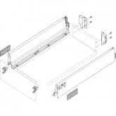 Sada Tandembox Antaro M délka 450mm, 30 kg bílá
