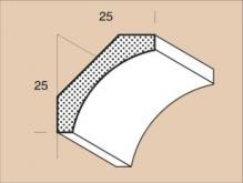 Krycí lišta napojovaná HO 2525 délka 2500mm