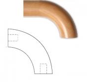 Oblouk KR 4590F buk pařený