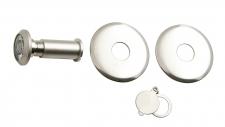 Kukátko dveřní - niklový komaxit (s podložkou)