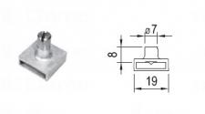 Držák kolíků 8 mm bez prodl. + červík