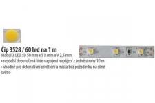 LED pásek 3528 60SBH EPISTAR WC 420lm 4,8W 0,4A  bílá studená