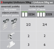 Posuv Laguna Unifuture 50  dvojkřídlo 50kg