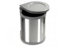 Odpadkový koš kulatý 1x15l šedý plast, nerez