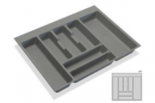 Rozdělovník plastový do zásuvky - šedý plast