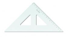 Trojúhelník 45/177 K-I-N transparentní s ryskou