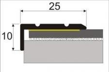 Schodová hrana 25x10mm samolepící délka 1200mm