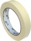 Páska krepová do 80°C bílá