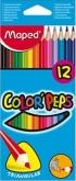 Pastelky MAPED 183212 trojhranné - sada 12 barev