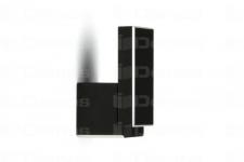 Věšák Ritto WP48 černá mat zkosený + šroubky